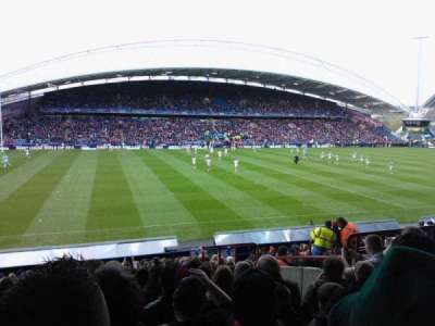John Smith's Stadium, section: KB8, row: U, seat: 191
