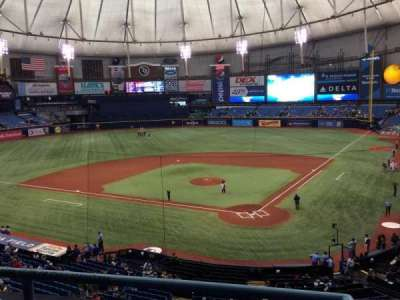 Tropicana Field, section: 203, row: C, seat: 1