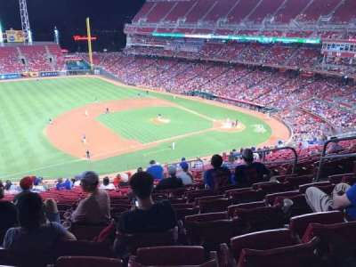 Great American Ball Park, section: 415, row: Q, seat: 7