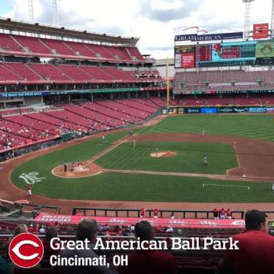 Great American Ball Park, section: 302, row: F, seat: 9