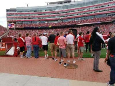 Memorial Stadium, section: 3, row: Field Level