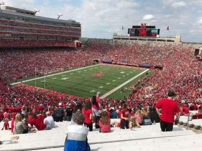 Memorial Stadium, section: 13, row: 98, seat: 6