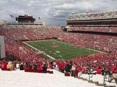 Memorial Stadium, section: 20, row: 96, seat: 7