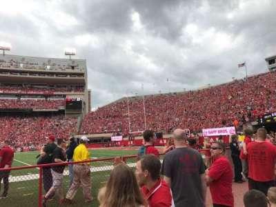 Memorial Stadium, section: 23, row: Field Level