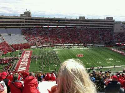 seat view reviews from camp randall stadium home of. Black Bedroom Furniture Sets. Home Design Ideas