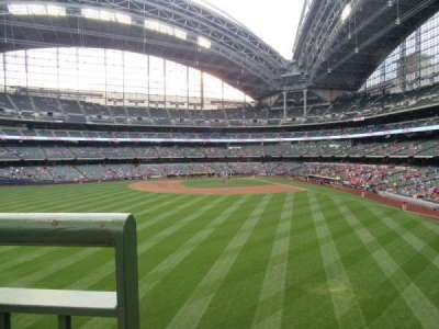 Miller Park, section: 237, row: 1, seat: 16
