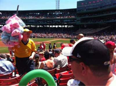 Fenway Park, section: Field Box 76, row: M