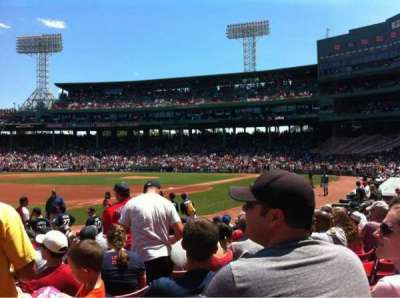 Fenway Park, section: Field Box 75, row: M