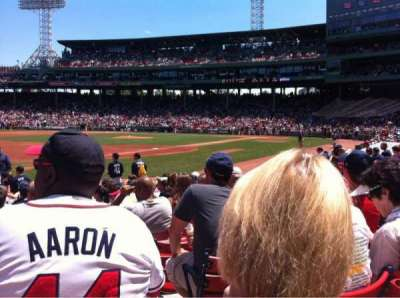 Fenway Park, section: Field Box 74, row: M
