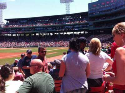 Fenway Park, section: Field box 72, row: M