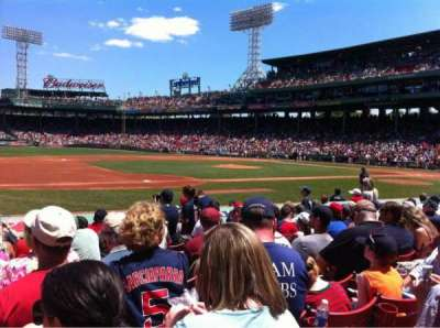 Fenway Park, section: Field box 68, row: M