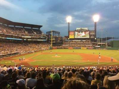 PNC Park, section: 112, row: X, seat: 6