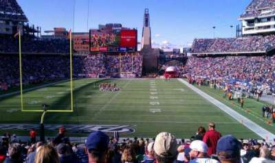 Gillette Stadium, section: 120, row: 29, seat: 2