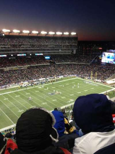 Gillette Stadium, section: 315, row: 16, seat: 9