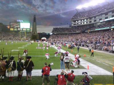 Gillette Stadium, section: 119, row: 4, seat: 13