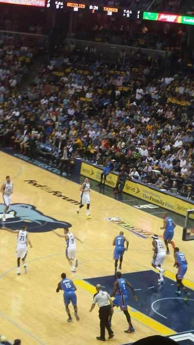 FedEx Forum, section: 116A, row: EE, seat: 1