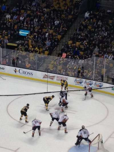TD Garden, section: Bal 312, row: 1, seat: 10