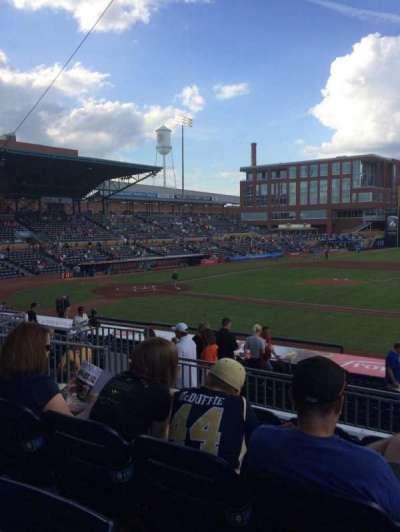 Durham Bulls Athletic Park, section: 210, row: Q, seat: 5