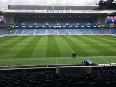 Ibrox Park, section: MLF, row: S, seat: 29