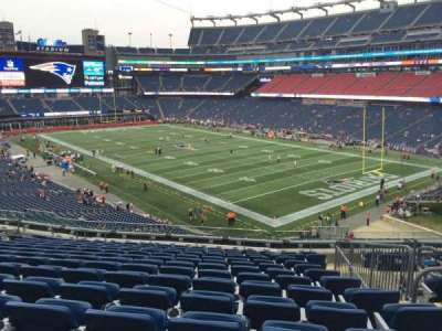 Gillette Stadium, section: 203, row: 14, seat: 4