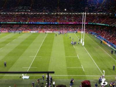Principality Stadium, section: U6, row: 4, seat: 1/2