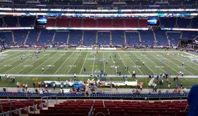 Gillette Stadium section CL32