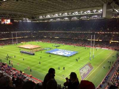 Principality Stadium, section: U4, row: 13, seat: 19