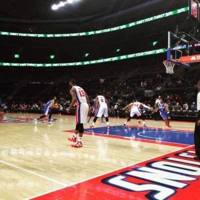 The Palace of Auburn Hills, section: VIP FF, row: 1, seat: 4