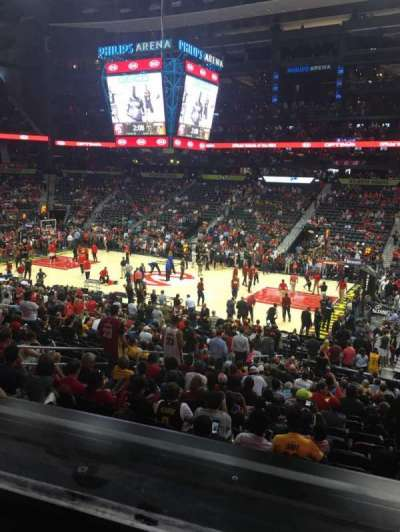 Philips Arena, section: 113, row: YC, seat: 9