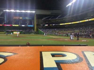 Marlins Park, section: 19, row: A, seat: 9