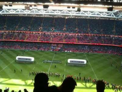 Principality Stadium, section: U8, row: 30, seat: 3