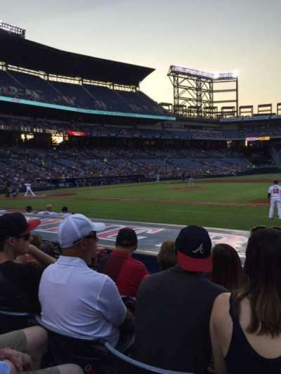 Turner Field, section: 115L, row: 9, seat: 106