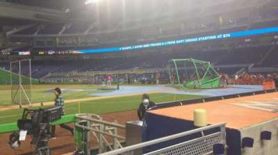 Marlins Park, section: 21, row: B, seat: 11