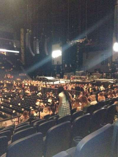 Bridgestone Arena, section: 105, row: Kk, seat: 8