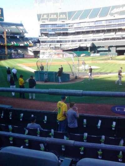Oakland Alameda Coliseum, section: 116, row: 14, seat: 6
