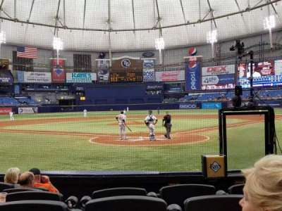 Tropicana Field, section: 101, row: L, seat: 2