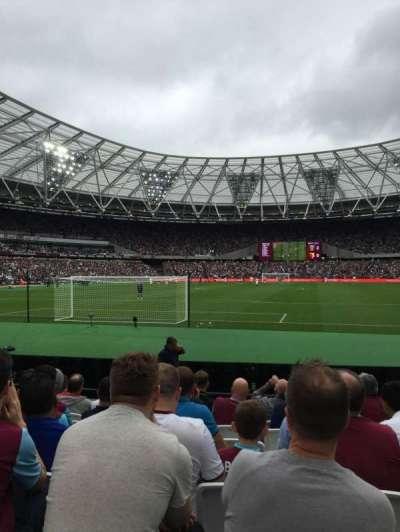 London Stadium, section: 125, row: 9