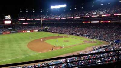 Turner Field, section: 316, row: 2, seat: 109