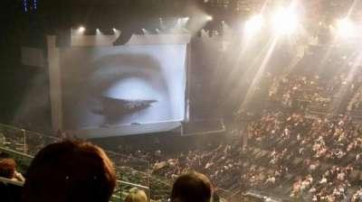 Madison Square Garden, row: 18, seat: 6