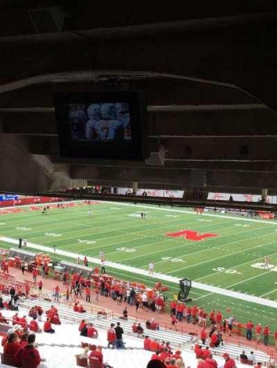 Memorial Stadium, section: 2, row: 47, seat: 25