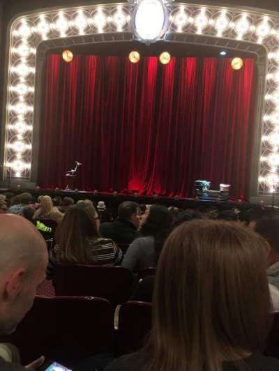 Palace Theatre (Broadway), section: Orchestra, row: M, seat: 104