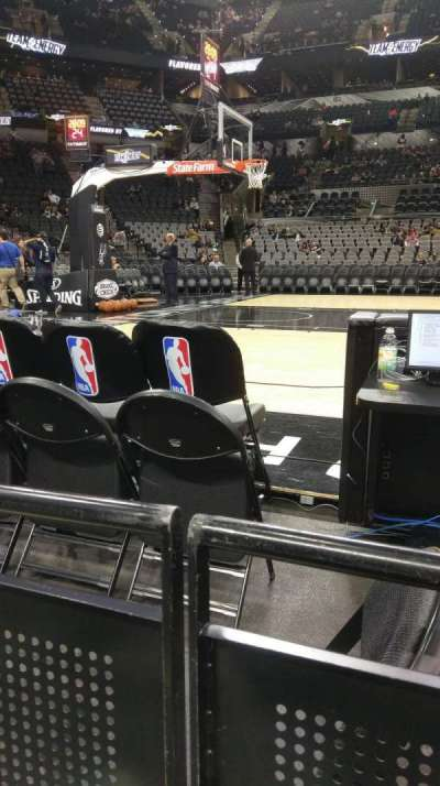 AT&T Center, section: 10, row: 4, seat: 6