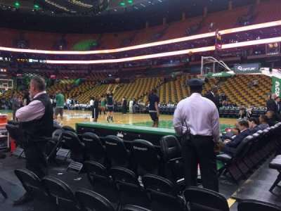 TD Garden, section: Loge 21, row: 1, seat: 7