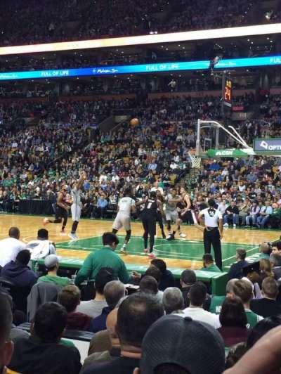 TD Garden, section: Loge 21, row: 6, seat: 7