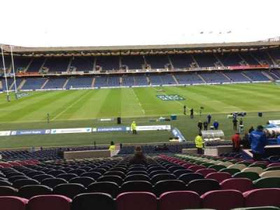 Murrayfield Stadium, section: West, row: Mm, seat: 28