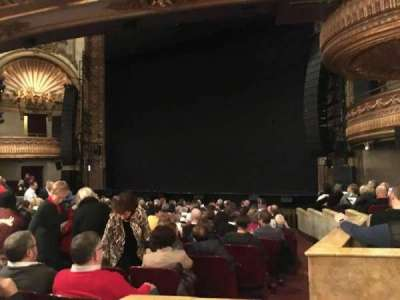 Palace Theatre (Broadway), section: Orchestra, row: N, seat: 4