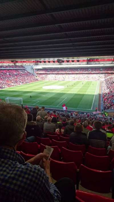 Anfield, section: Kop grandstand  block 207, row: 61, seat: 32