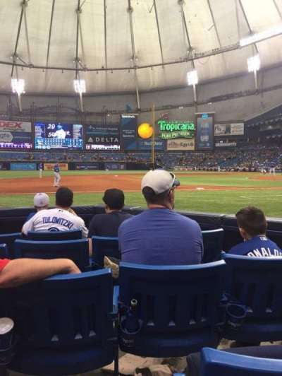 Tropicana Field, section: 119, row: F, seat: 4
