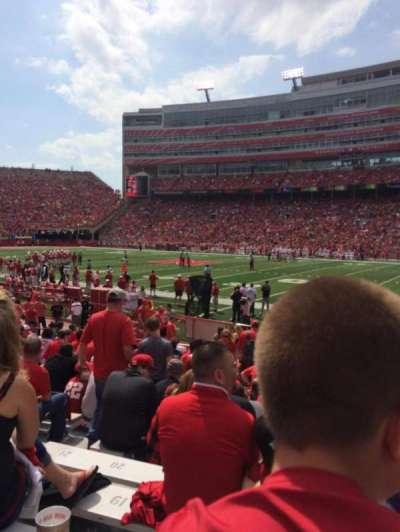 Memorial Stadium, section: 2, row: 10, seat: 14