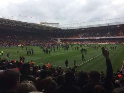 Bramall Lane, section: G, row: O, seat: 185